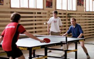 Удары в теннисе настольном видео