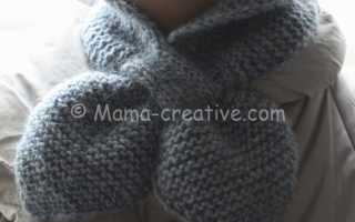 Вязание шарфа с петлей видео