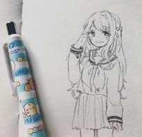 Видео как нарисовать аниме карандашом
