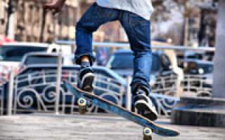 Видео уроки как кататься на скейте