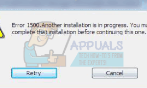 Another java installation is in progress