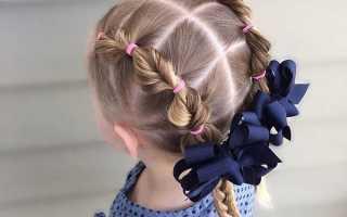 Заплести косу ребенку видео