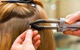 Видео наращивания волос на капсулы