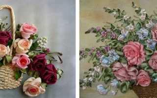 Картины из атласных лент мастер класс