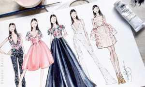 Эскизы одежды дизайнеров