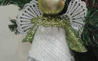 Рождественский ангел своими руками мастер