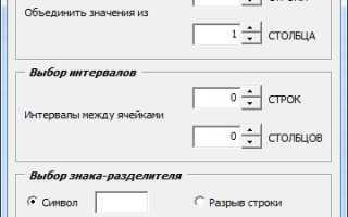 Объединение текста из разных ячеек excel